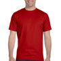 Hanes Mens Beefy-T Short Sleeve Crewneck T-Shirt - Deep Red
