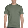 Hanes Mens Beefy-T Short Sleeve Crewneck T-Shirt - Fatigue Green