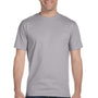 Hanes Mens Beefy-T Short Sleeve Crewneck T-Shirt - Oxford Grey