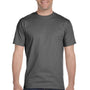 Hanes Mens Beefy-T Short Sleeve Crewneck T-Shirt - Smoke Grey
