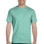 Hanes Mens Beefy-T Short Sleeve Crewneck T-Shirt - Clean Mint Green