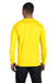 Hanes 5186 Mens Beefy-T Long Sleeve Crewneck T-Shirt Yellow Back