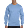 Hanes Mens Beefy-T Long Sleeve Crewneck T-Shirt - Light Blue