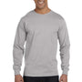 Hanes Mens Beefy-T Long Sleeve Crewneck T-Shirt - Light Steel Grey