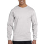Hanes Mens Beefy-T Long Sleeve Crewneck T-Shirt - Ash Grey
