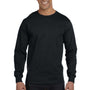 Hanes Mens Beefy-T Long Sleeve Crewneck T-Shirt - Black