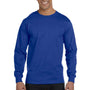 Hanes Mens Beefy-T Long Sleeve Crewneck T-Shirt - Deep Royal Blue