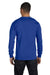 Hanes 5186 Mens Beefy-T Long Sleeve Crewneck T-Shirt Royal Blue Back