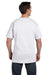 Hanes 5190P Mens Beefy-T Short Sleeve Crewneck T-Shirt w/ Pocket White Back