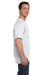 Hanes 5190P Mens Beefy-T Short Sleeve Crewneck T-Shirt w/ Pocket White Side