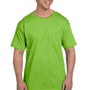 Hanes Mens Beefy-T Short Sleeve Crewneck T-Shirt w/ Pocket - Lime Green