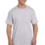 Hanes Mens Beefy-T Short Sleeve Crewneck T-Shirt w/ Pocket - Ash Grey
