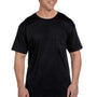 Hanes Mens Beefy-T Short Sleeve Crewneck T-Shirt w/ Pocket - Black