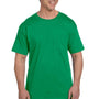 Hanes Mens Beefy-T Short Sleeve Crewneck T-Shirt w/ Pocket - Kelly Green