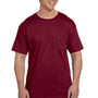 Hanes Mens Beefy-T Short Sleeve Crewneck T-Shirt w/ Pocket - Cardinal Red