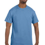 Hanes Mens ComfortSoft Short Sleeve Crewneck T-Shirt - Carolina Blue