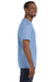 Hanes 5250T Mens ComfortSoft Short Sleeve Crewneck T-Shirt Light Blue Side