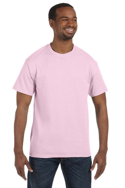 Hanes 5250T Mens ComfortSoft Short Sleeve Crewneck T-Shirt Pale Pink Front