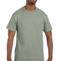 Hanes Mens ComfortSoft Short Sleeve Crewneck T-Shirt - Stonewashed Green