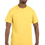 Hanes Mens ComfortSoft Short Sleeve Crewneck T-Shirt - Daffodil Yellow