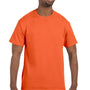 Hanes Mens ComfortSoft Short Sleeve Crewneck T-Shirt - Athletic Orange