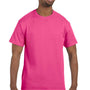 Hanes Mens ComfortSoft Short Sleeve Crewneck T-Shirt - Wow Pink