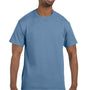 Hanes Mens ComfortSoft Short Sleeve Crewneck T-Shirt - Stonewashed Blue