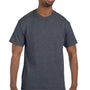 Hanes Mens ComfortSoft Short Sleeve Crewneck T-Shirt - Heather Charcoal Grey
