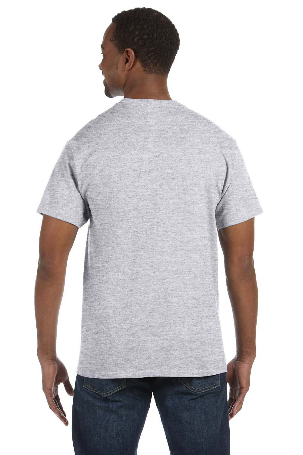 Hanes 5250T Mens ComfortSoft Short Sleeve Crewneck T-Shirt Ash Grey Back