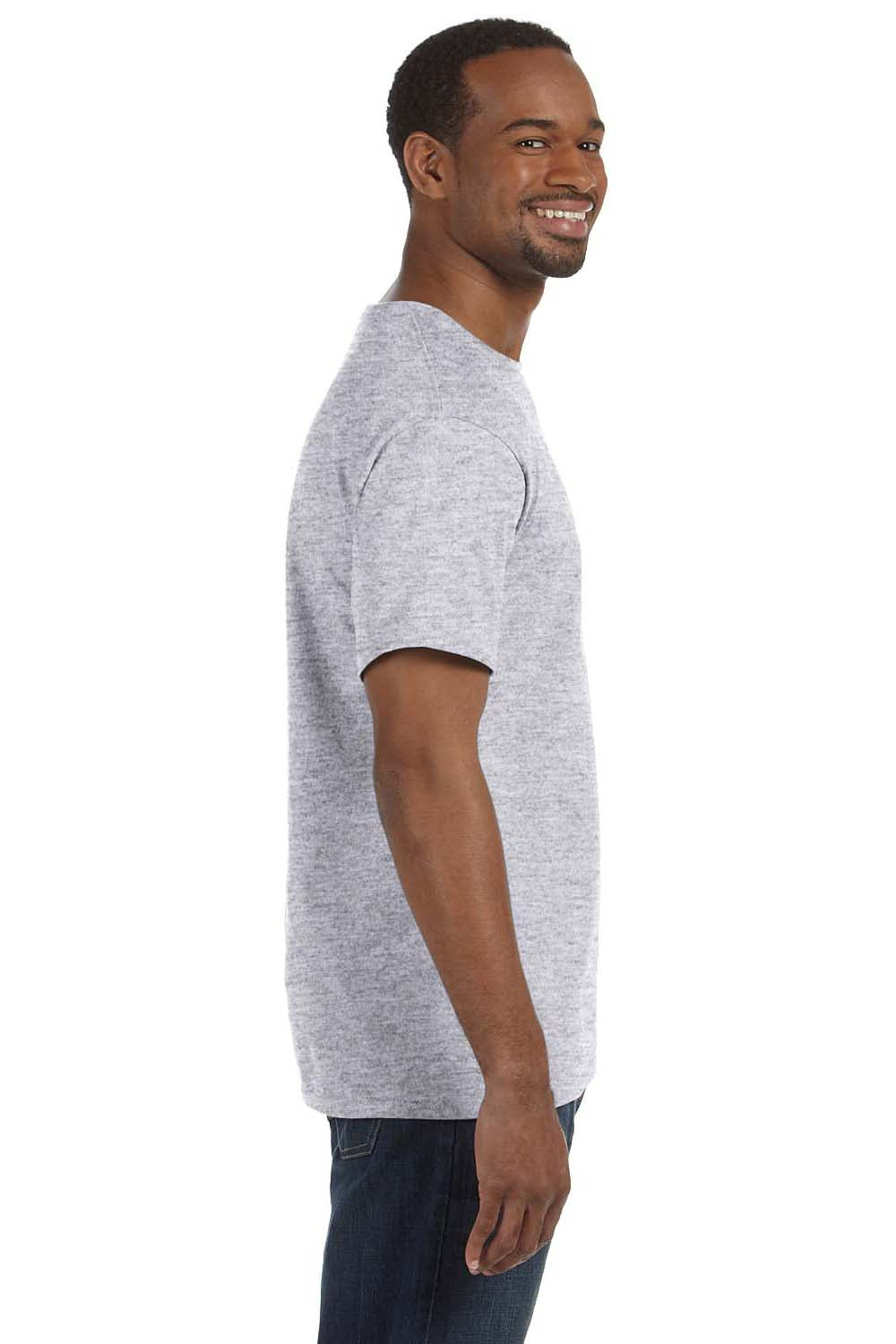 Hanes 5250T Mens ComfortSoft Short Sleeve Crewneck T-Shirt Ash Grey Side