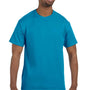 Hanes Mens ComfortSoft Short Sleeve Crewneck T-Shirt - Teal Blue