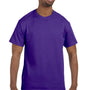 Hanes Mens ComfortSoft Short Sleeve Crewneck T-Shirt - Purple