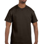Hanes Mens ComfortSoft Short Sleeve Crewneck T-Shirt - Dark Chocolate Brown