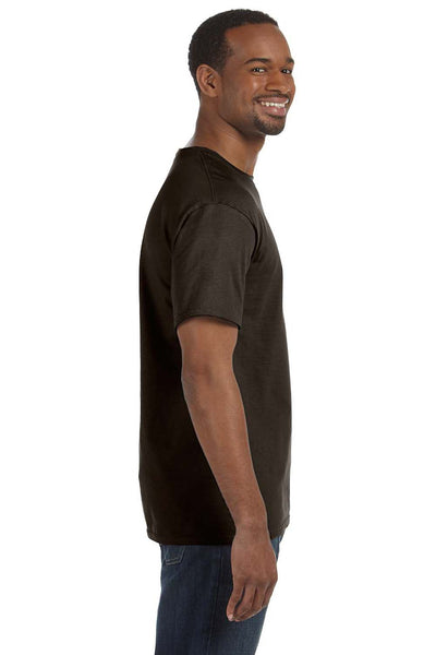 Hanes 5250T Mens ComfortSoft Short Sleeve Crewneck T-Shirt Chocolate Brown Side