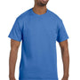 Hanes Mens ComfortSoft Short Sleeve Crewneck T-Shirt - Palace Blue