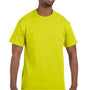 Hanes Mens ComfortSoft Short Sleeve Crewneck T-Shirt - Safety Green