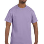Hanes Mens ComfortSoft Short Sleeve Crewneck T-Shirt - Lavender Purple