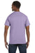 Hanes 5250T Mens ComfortSoft Short Sleeve Crewneck T-Shirt Lavender Purple Back