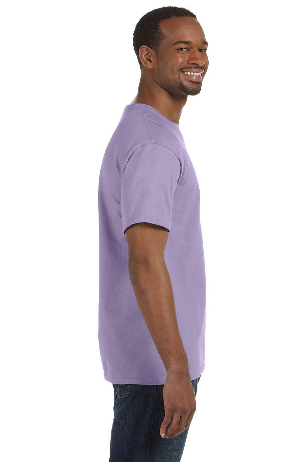 Hanes 5250T Mens ComfortSoft Short Sleeve Crewneck T-Shirt Lavender Purple Side