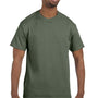 Hanes Mens ComfortSoft Short Sleeve Crewneck T-Shirt - Fatigue Green