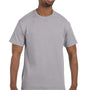 Hanes Mens ComfortSoft Short Sleeve Crewneck T-Shirt - Oxford Grey