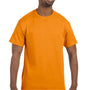 Hanes Mens ComfortSoft Short Sleeve Crewneck T-Shirt - Safety Orange
