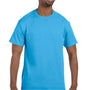 Hanes Mens ComfortSoft Short Sleeve Crewneck T-Shirt - Aquatic Blue