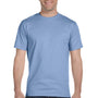 Hanes Mens ComfortSoft Short Sleeve Crewneck T-Shirt - Light Blue