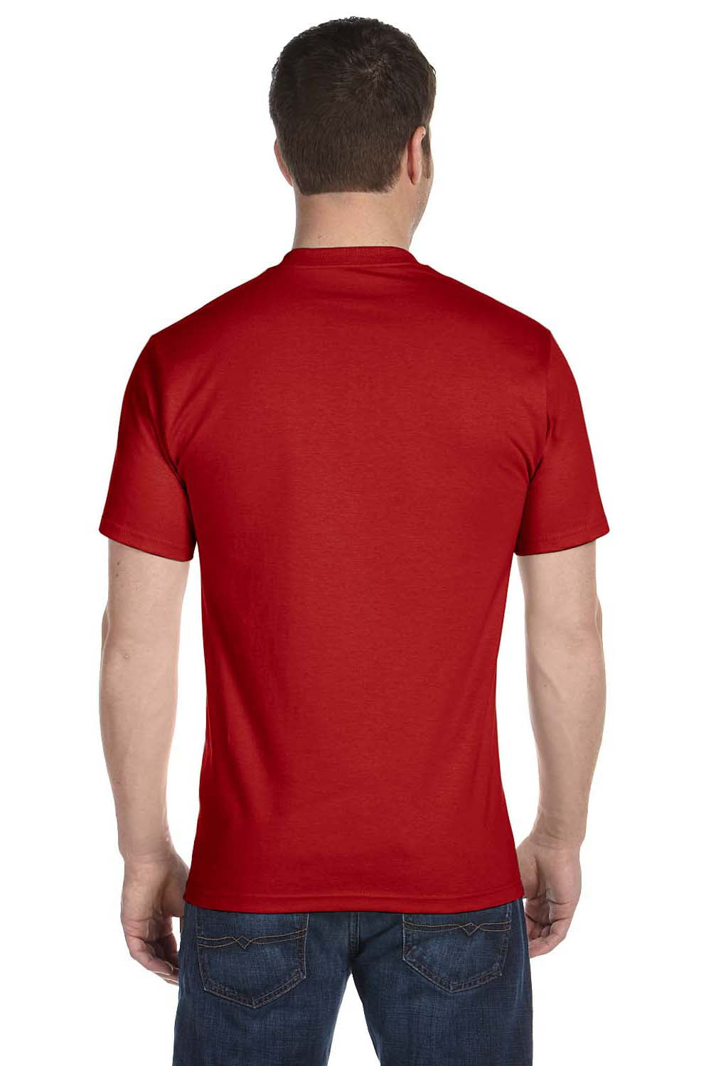 Hanes 5280 Mens ComfortSoft Short Sleeve Crewneck T-Shirt Red Back