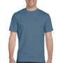 Hanes Mens ComfortSoft Short Sleeve Crewneck T-Shirt - Denim Blue