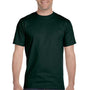 Hanes Mens ComfortSoft Short Sleeve Crewneck T-Shirt - Deep Forest Green