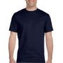 Hanes Mens ComfortSoft Short Sleeve Crewneck T-Shirt - Navy Blue