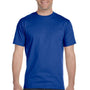 Hanes Mens ComfortSoft Short Sleeve Crewneck T-Shirt - Deep Royal Blue