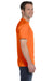 Hanes 5280 Mens ComfortSoft Short Sleeve Crewneck T-Shirt Orange Side